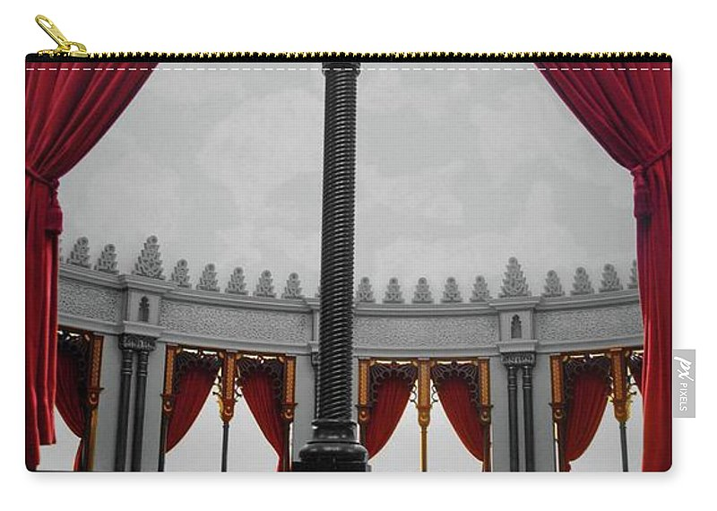 Red Carry-all Pouch featuring the photograph The Red Curtain by Jost Houk