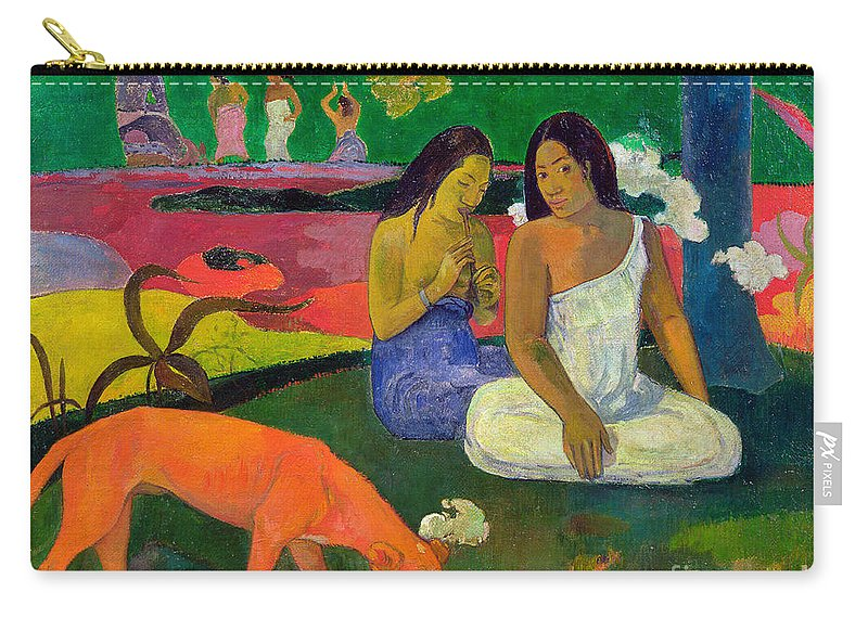 Arearea (the Red Dog) Carry-all Pouch featuring the painting The Red Dog by Paul Gauguin