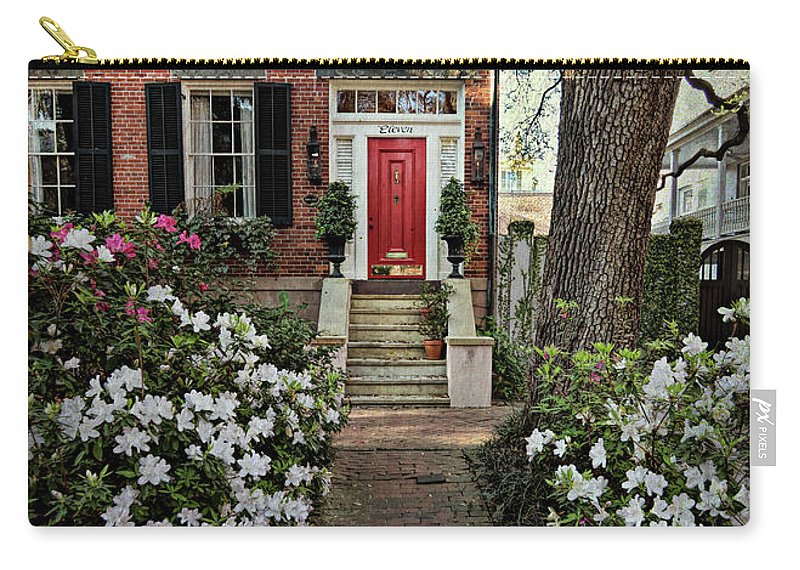 House Carry-all Pouch featuring the photograph The Red Door - 2 by Kim Hojnacki