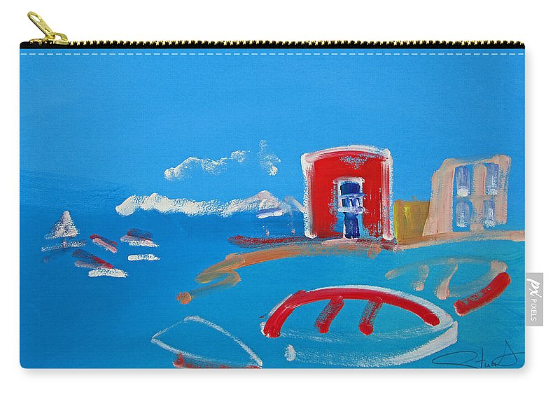 Puerto Carry-all Pouch featuring the painting The Red House La Casa Roja by Charles Stuart