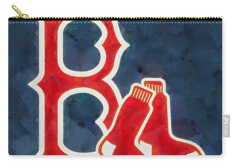 Boston Red Sox Carry-all Pouch featuring the painting The Red Sox by Dan Sproul