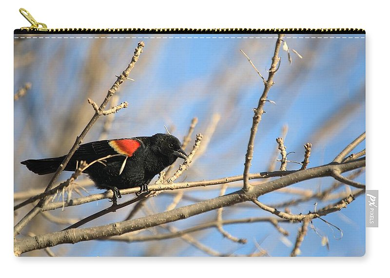 Agelaius Carry-all Pouch featuring the photograph The Red Wing by Bonfire Photography