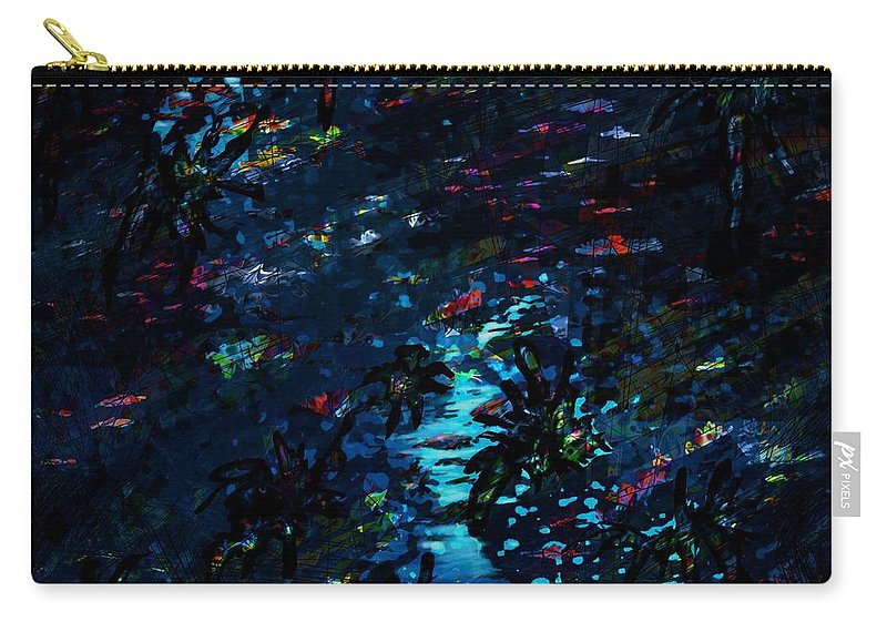 Abstract Carry-all Pouch featuring the digital art the Reef by Rachel Christine Nowicki