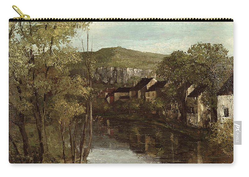 The Carry-all Pouch featuring the painting The Reflection Of Ornans by Gustave Courbet