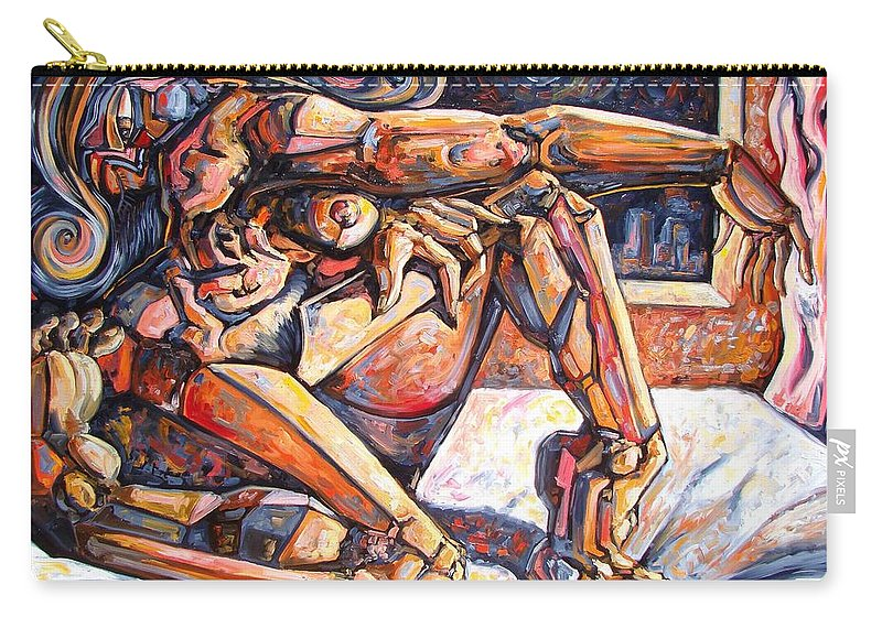 Surrealism Carry-all Pouch featuring the painting The Reflection Of The Muse by Darwin Leon