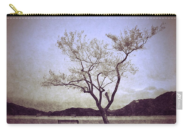 Bench Carry-all Pouch featuring the photograph The Reluctant Companion by Tara Turner