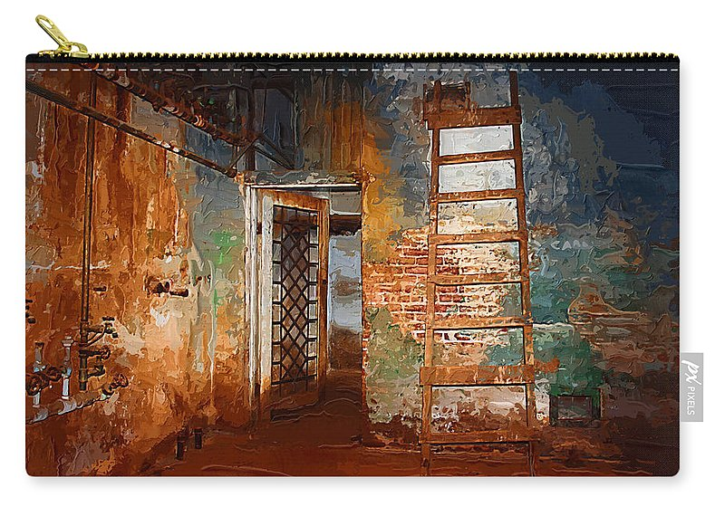 Preston+castle Carry-all Pouch featuring the painting The Renovation by Holly Ethan
