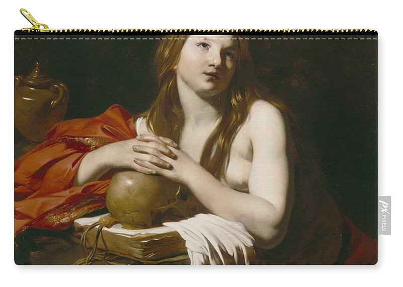 The Carry-all Pouch featuring the painting The Repentant Magdalene by Nicolas Regnier