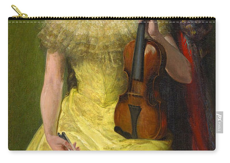 John Ferguson Weir Carry-all Pouch featuring the painting The Rest His Daughter Edith by John Ferguson Weir