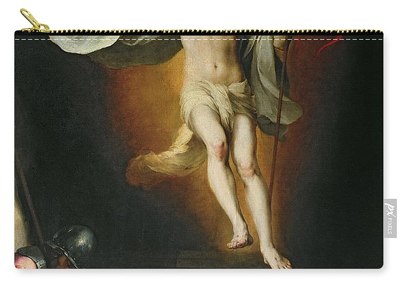The Carry-all Pouch featuring the painting The Resurrection Of Christ by Bartolome Esteban Murillo