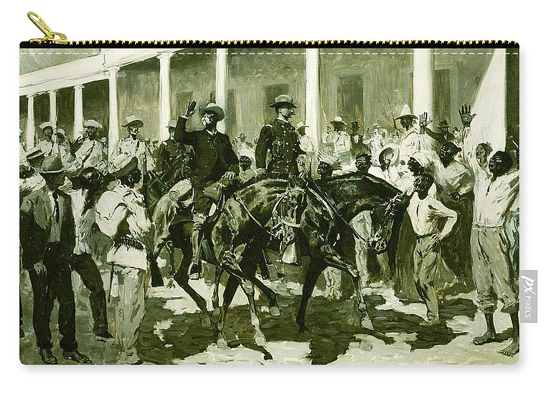 Carry-all Pouch featuring the painting The Return Of Gomez To Havana by Frederic Sackrider Remington
