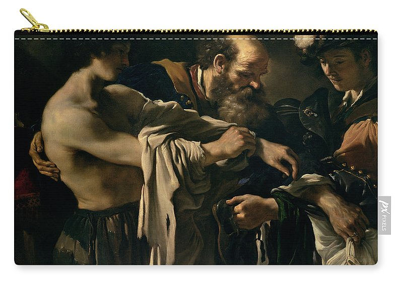 The Carry-all Pouch featuring the painting The Return Of The Prodigal Son by Giovanni Francesco Barbieri