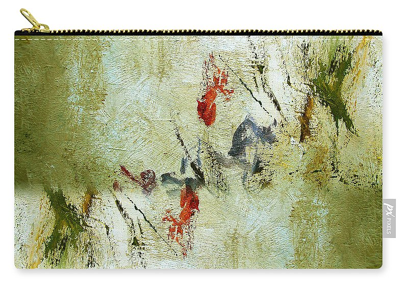 Abstract Carry-all Pouch featuring the painting The Reversal by Ruth Palmer