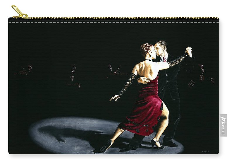 Tango Carry-all Pouch featuring the painting The Rhythm of Tango by Richard Young