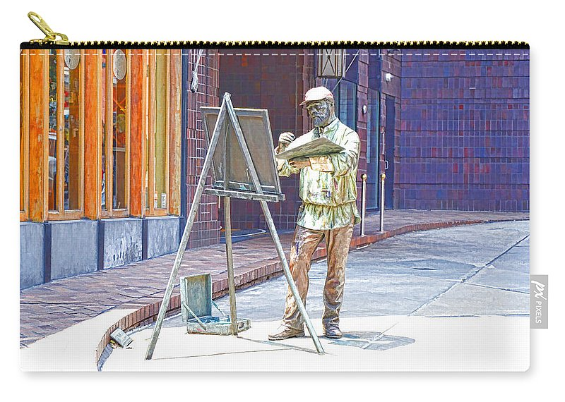 The Right Light Carry-all Pouch featuring the painting The Right Light 1 by Jeelan Clark