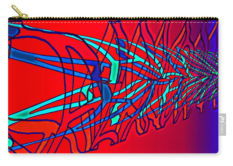 C2 Carry-all Pouch featuring the digital art The risc of alcohol by Helmut Rottler