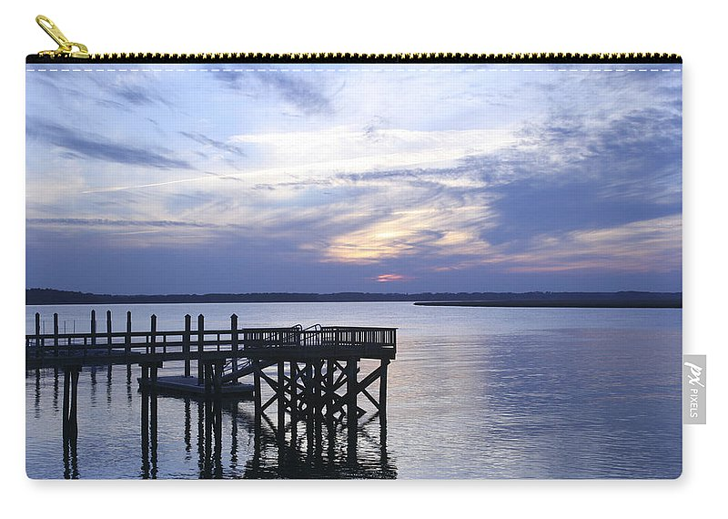 Landscape Carry-all Pouch featuring the photograph The River At Dusk by Phill Doherty