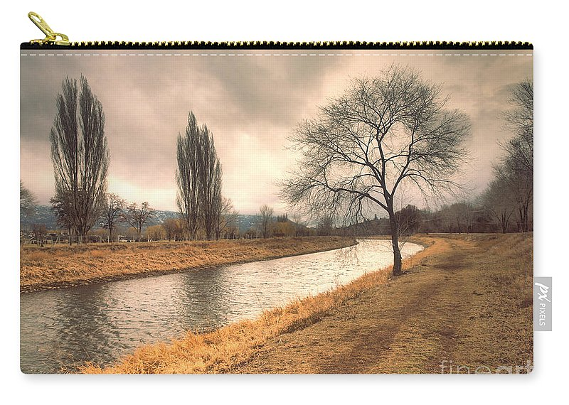 Channel Carry-all Pouch featuring the photograph The River Channel In January by Tara Turner