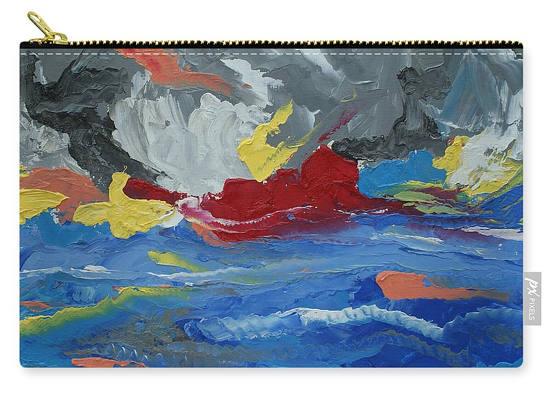 Abstract Carry-all Pouch featuring the painting The River by Christopher O'Kelley