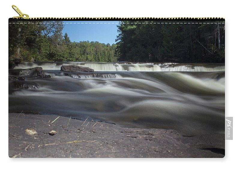 Waterfall Carry-all Pouch featuring the photograph The River - Furnace Falls - Burnt River by Spencer Bush