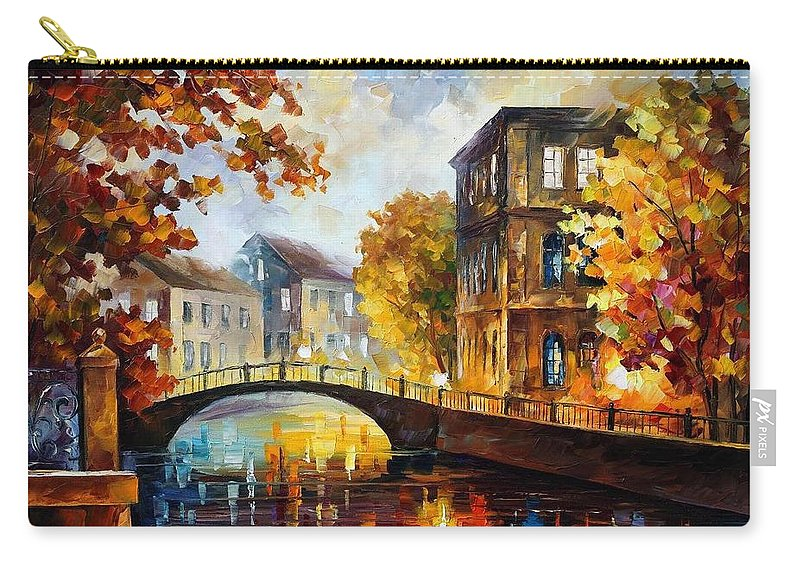 Afremov Carry-all Pouch featuring the painting The River Of Memories by Leonid Afremov