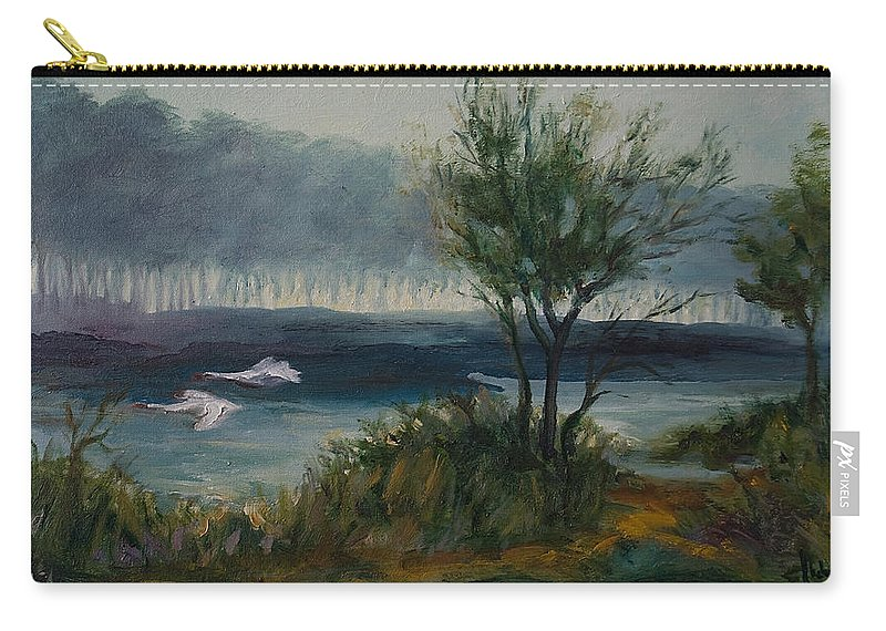 Water Carry-all Pouch featuring the painting The River by Rick Nederlof