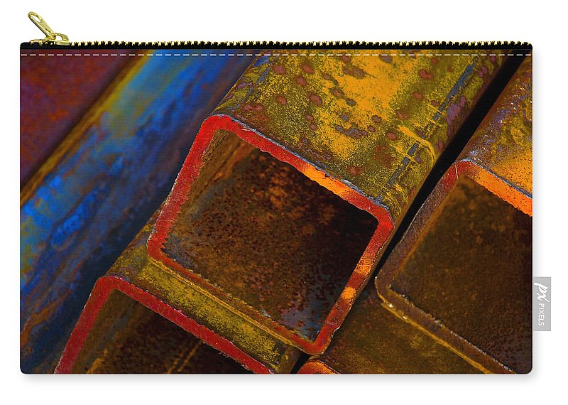 Abstract Carry-all Pouch featuring the photograph The River by Skip Hunt