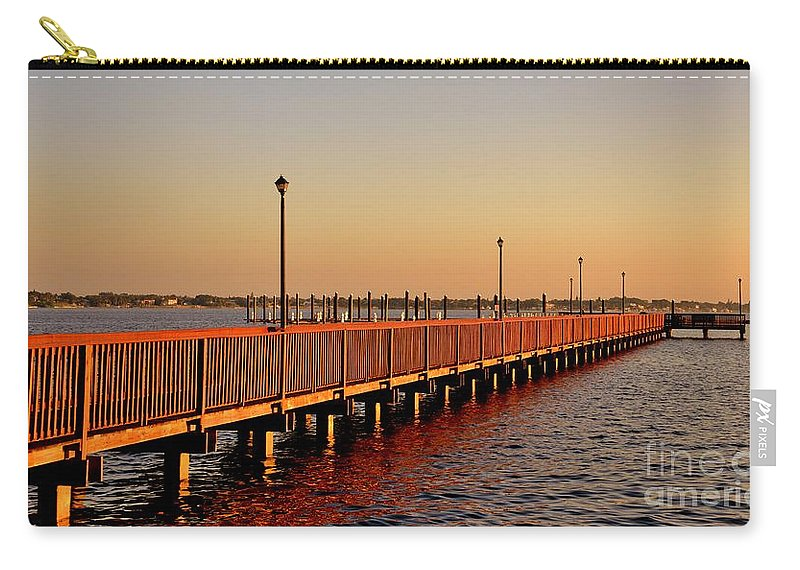 Riverwalk Carry-all Pouch featuring the photograph The Riverwalk by Lisa Renee Ludlum