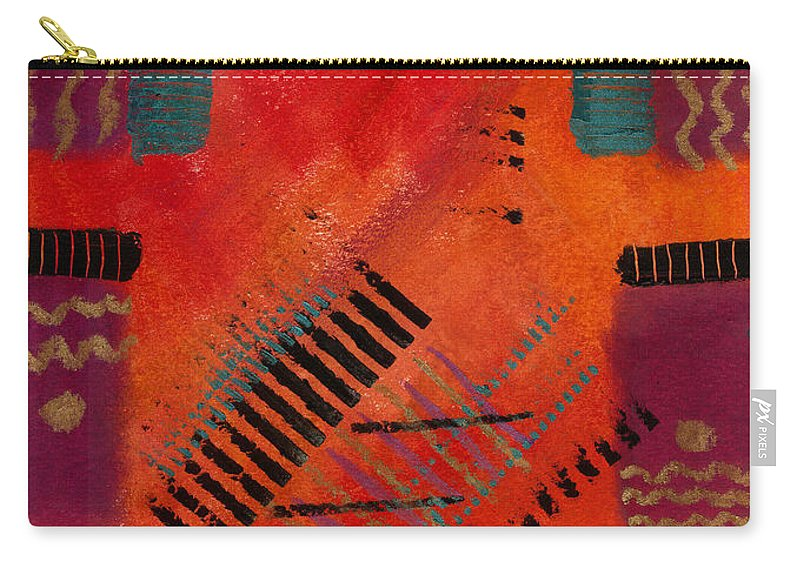 Orange Carry-all Pouch featuring the painting The Road Between Us by Angela L Walker