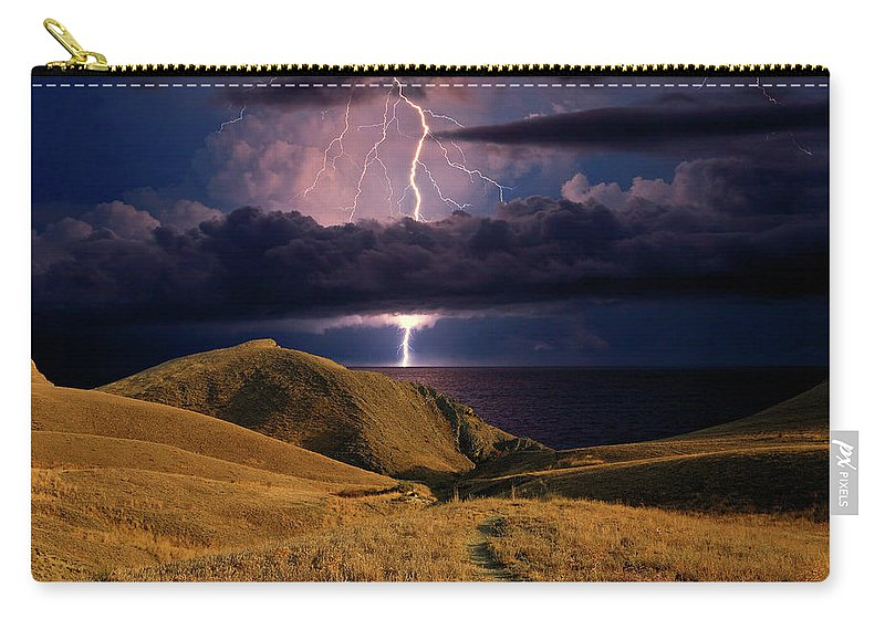Dark Carry-all Pouch featuring the photograph The Road Forward by Yuri Hope