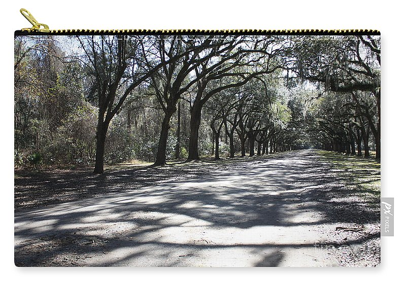 Road Carry-all Pouch featuring the photograph The Road Home by Carol Groenen