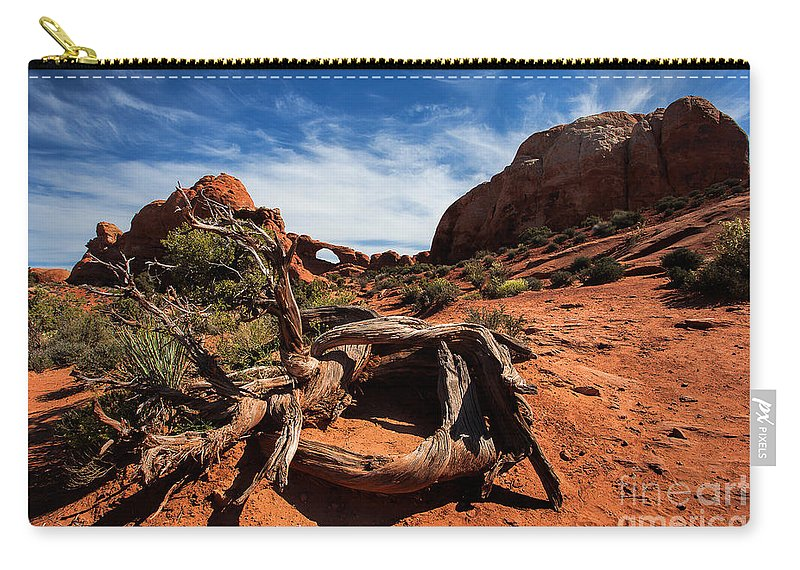 Utah Carry-all Pouch featuring the photograph The Road Home by Jim Garrison