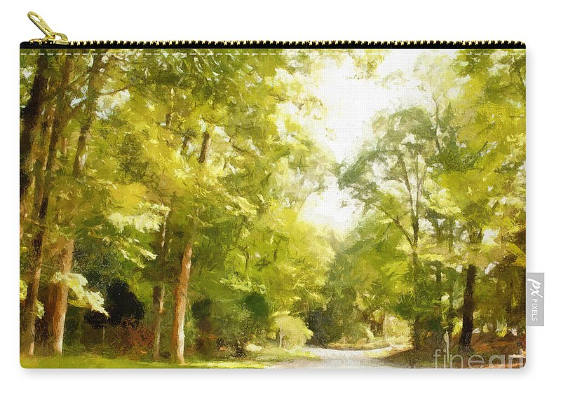 Road Carry-all Pouch featuring the photograph The Road Home by Paulette B Wright