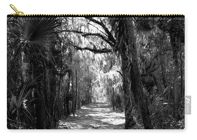 Trees Carry-all Pouch featuring the photograph The Road Less Traveled by J M Farris Photography