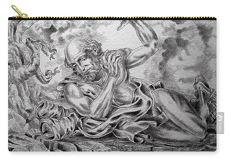 Damascus Carry-all Pouch featuring the drawing On The Road To Damascus by Gary Renegar