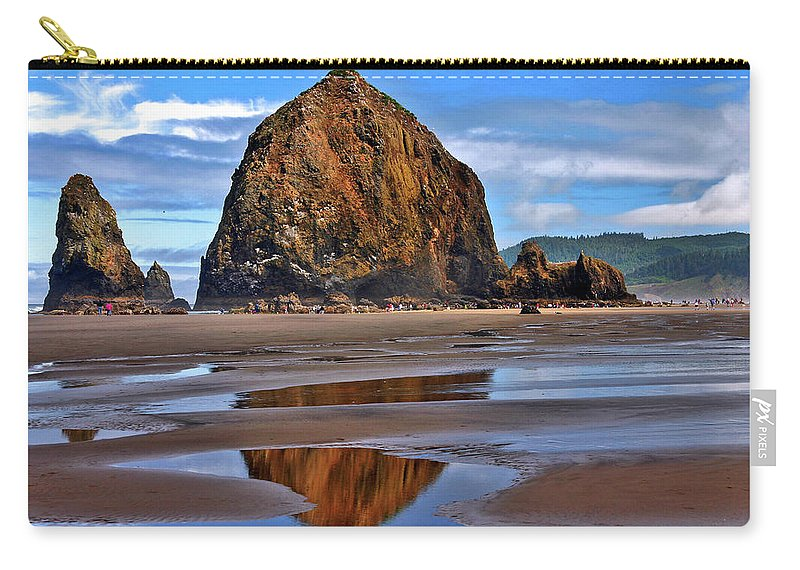 Oregon Carry-all Pouch featuring the photograph The Rock by Scott Mahon