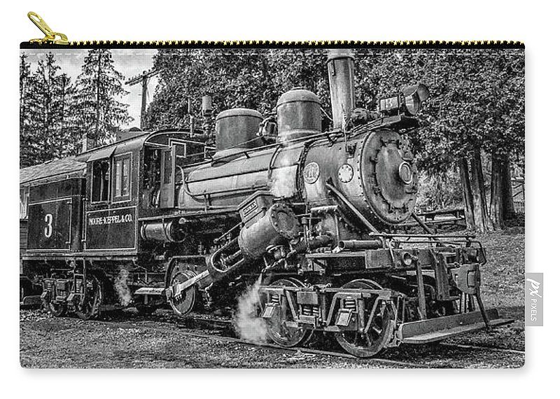 Pocahontas County Carry-all Pouch featuring the photograph The Rocket Monochrome by Steve Harrington