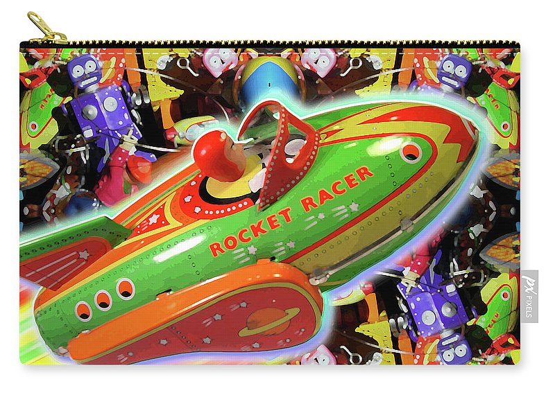 Marty Treinen Carry-all Pouch featuring the painting The Rocket Racer by Marty Treinen