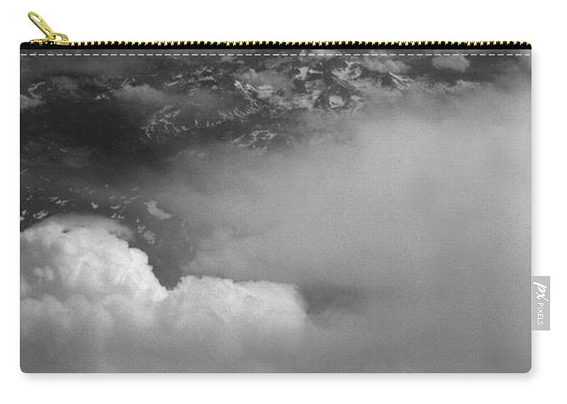 Aerial Photography Carry-all Pouch featuring the photograph The Rockies by Richard Rizzo