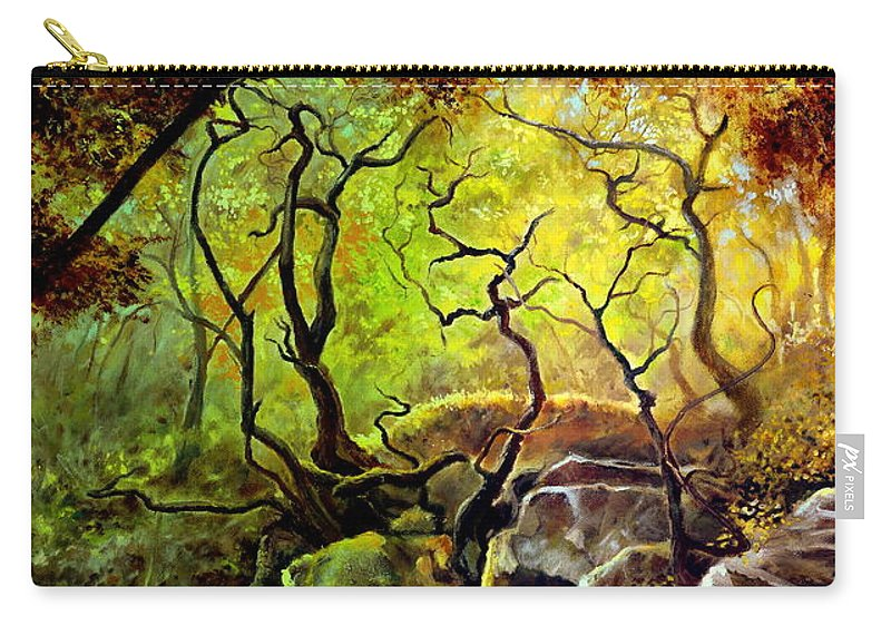 Henryk Carry-all Pouch featuring the painting The Rocks In Starachowice by Henryk Gorecki