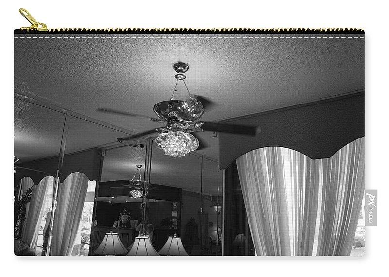 Black And White Carry-all Pouch featuring the photograph The Room With Many Views by Rob Hans
