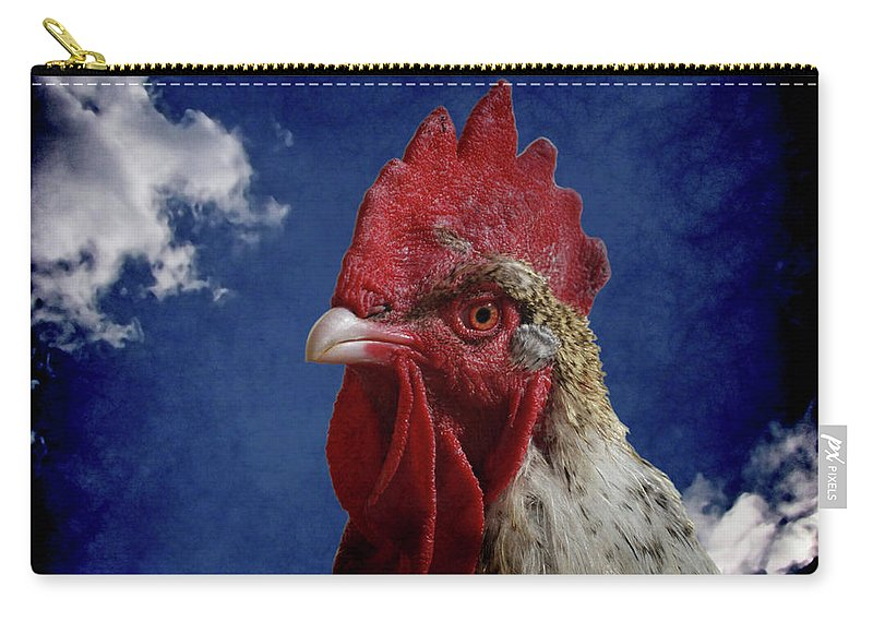 Rooster Carry-all Pouch featuring the photograph The Rooster by Ernie Echols