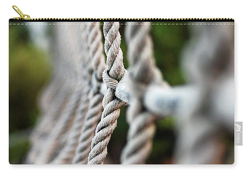 Rope's Carry-all Pouch featuring the photograph The Rope's by Robert Meanor