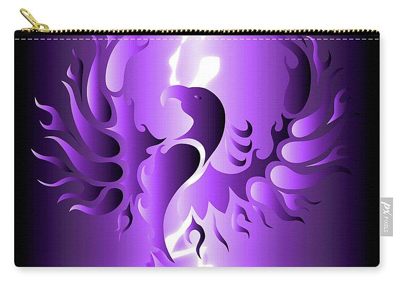 Digital Art Carry-all Pouch featuring the digital art The Royal Phoenix by Robert Ball