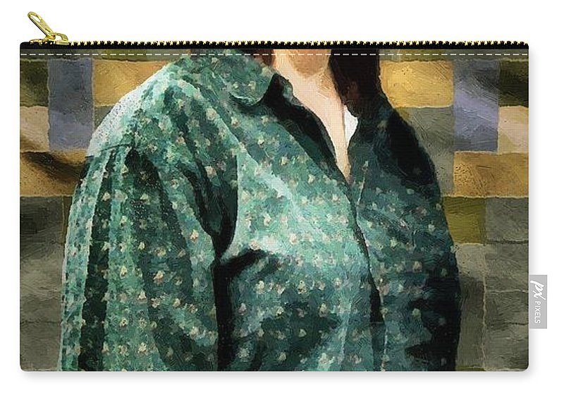 Artisan Carry-all Pouch featuring the painting The Rugmaker by RC DeWinter