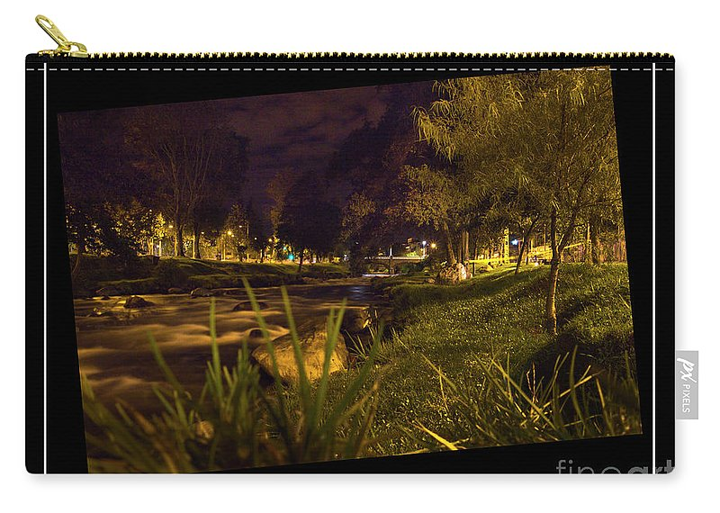 Rushing Carry-all Pouch featuring the photograph The Rushing Rio Tomebamba Iv by Al Bourassa