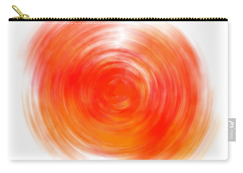 Joy Carry-all Pouch featuring the digital art The Sacral Chakra - Orange by Shlomit Gutman Mor