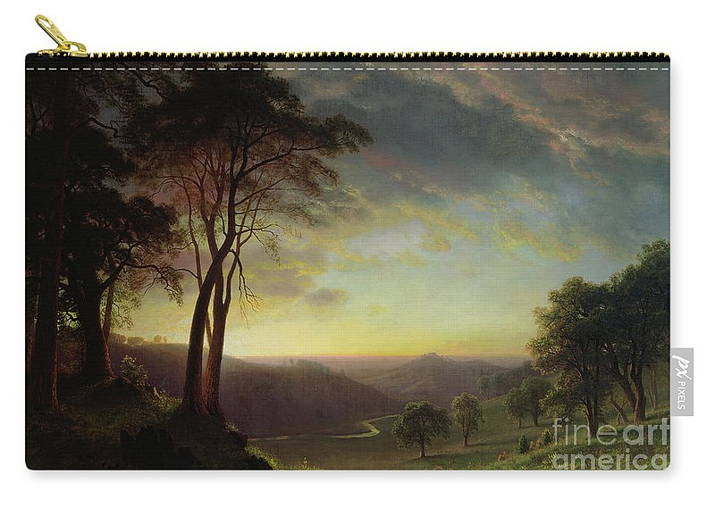 Albert Carry-all Pouch featuring the painting The Sacramento River Valley by Albert Bierstadt