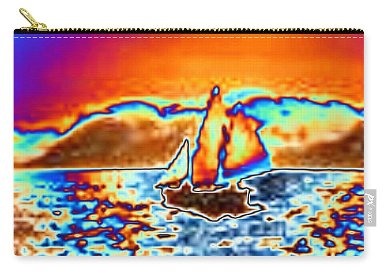 Sail Carry-all Pouch featuring the digital art The Sail by Tim Allen