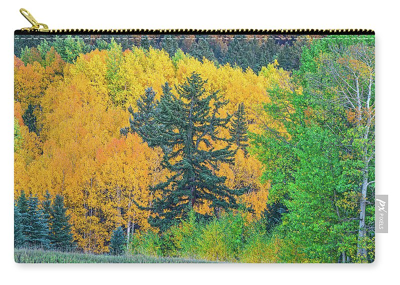 Fall Colors Carry-all Pouch featuring the photograph The Sanctity Of Nature Reified Through A Photographic Image by Bijan Pirnia
